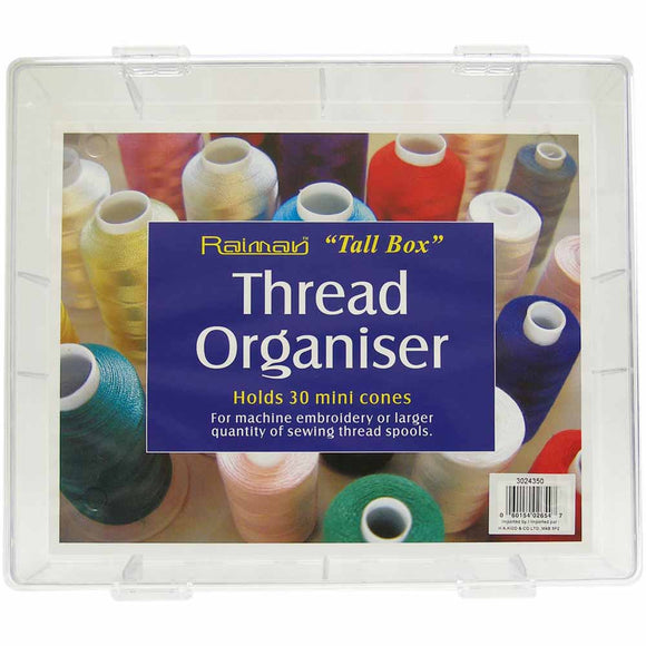 Plastic machine embroidery thread box (clear)