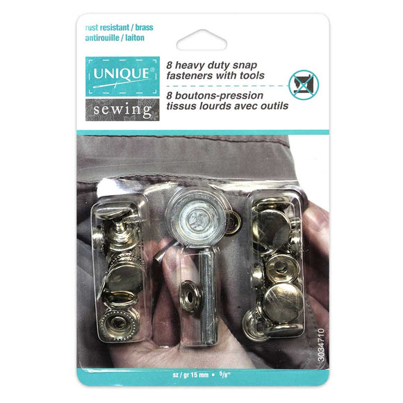 15mm Heavy Duty Snap Kit with Tool (8ct)