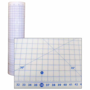 "36"" x 59"" cutting mat (clear) with grid lines"