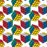 "Rubiks Cubes Licensed Prints - 45"" - 100% Cotton"