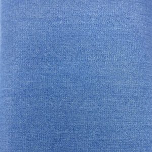 Square swatch soft blue denim material in blue