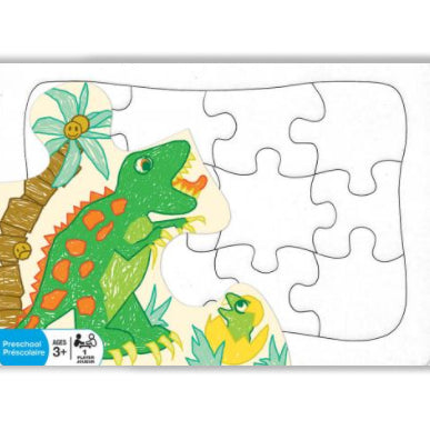 Square photo create your own postcard puzzle in packaging on white background (12 pieces)