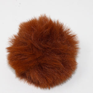 Faux Rabbit (Short Hair) Pom Poms in assorted colours