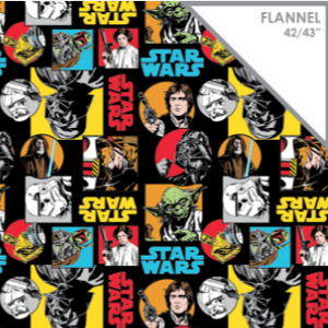 "Star Wars Flannel Print - 42/43"" - 100% Cotton"