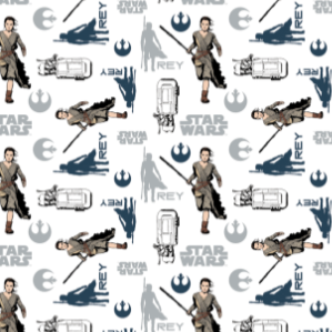 "Star Wars: The Force Awakens - 45"" - 100% Cotton"