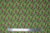 Flat swatch licensed Star Wars (The Child) printed fabric in Child Poses Stack (baby yoda poses collage)