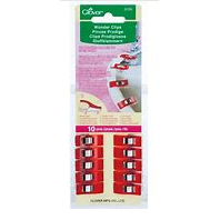 10 pack of clover wonder clips (red) in packaging