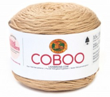 Cake of Lion Brand Coboo in colourway Beige