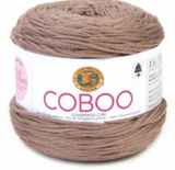 Cake of Lion Brand Coboo in colourway Taupe