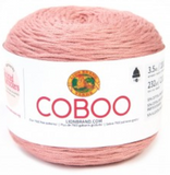 Cake of Lion Brand Coboo in colourway Mauve