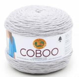Cake of Lion Brand Coboo in colourway Silver