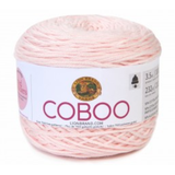 Cake of Lion Brand Coboo in colourway Pale Pink