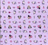 "Minnie Mouse Unicorn Dreams - 45"" - 100% Cotton"