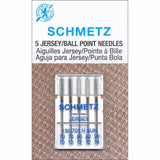 Pack of 5 ballpoint sewing machine needles (assorted sizes)