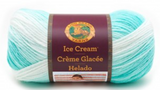 Ball of Lion Brand Ice Cream in colourway Mint (bright mint green fading to white)