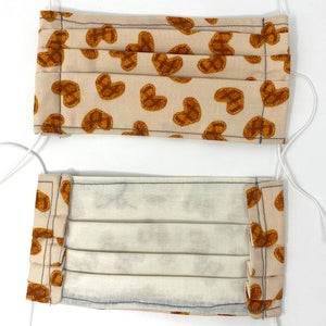 Pick Your Print Adult Face Mask - Brown Hearts