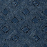 Tiled sets of concentric diamonds, dark grey fine lines on a navy blue background