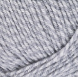Swatch of of Red Heart Comfort (Shimmer) in Grey/Aran Marl (white/light grey marled yarn)