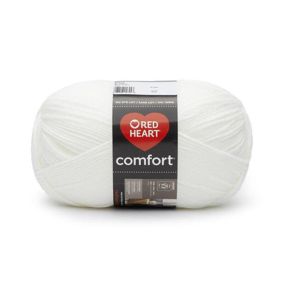 Ball of Red Heart Comfort (Shimmer) in white opal (white with shimmer/metallic effect)