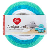 Narwhal (teal, blue, white, grey) cake of Red Heart Amigurumi