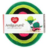 Cactus (dark green, light green, black, pink) cake of Red Heart Amigurumi