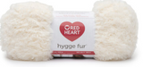 Ball of Red Heart Hygge Fur textured yarn in cotton tail (white)