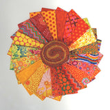 Kaffe Fassett design roll precuts in citrus