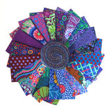 Kaffe Fassett design roll precuts in peacock
