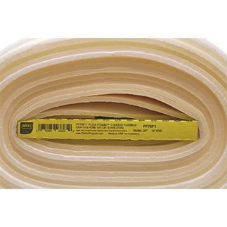 Full roll of natural coloured 1-sided fusible flex-foam stabilizer