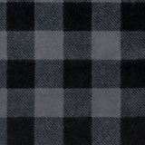 Swatch of grey and black buffalo check flannel