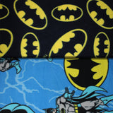 Group swatch Batman printed licensed fleece in various styles/colours