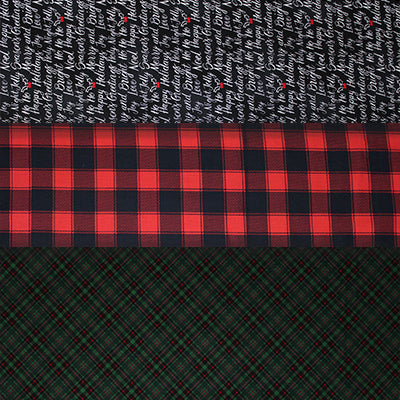 Holiday Plaids & Text - 45