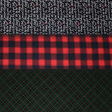 "Holiday Plaids & Text - 45"" - 100% Cotton"