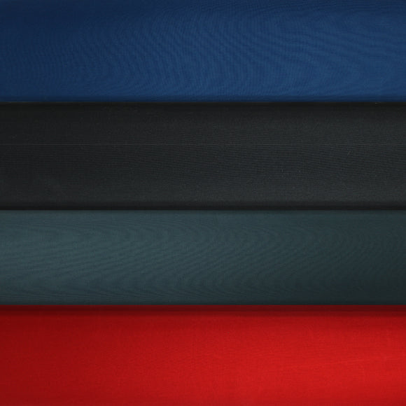 Group swatch outdoor polyester solids in various colours