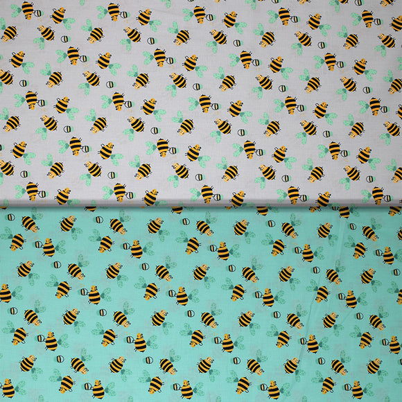 Group swatch busy bee fabrics in various colours