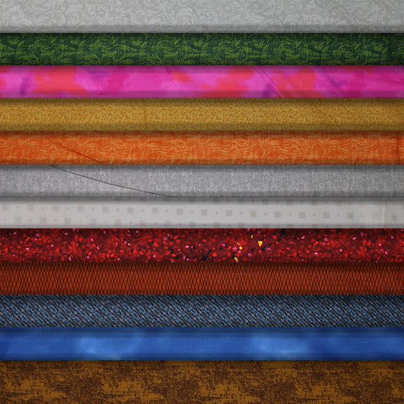 Group swatch assorted marbles & impressions printed fabrics in various styles