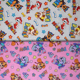 Group swatch assorted Paw Patrol prints in various styles