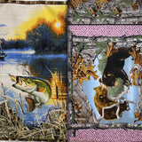 Group swatch fishing panels in various styles
