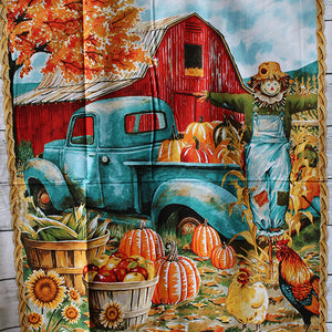 "Pumpkin Patch Panel - 36x45"" - 100% Cotton"