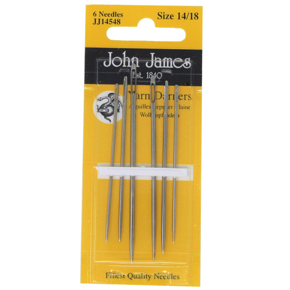 Pack of 6 yarn darner needles size 14/18