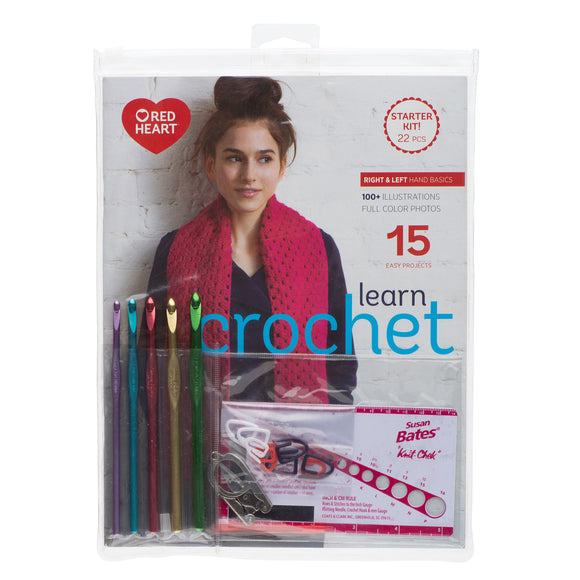 Learn crochet starter kit packaging