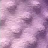 Lilac swatch of solid coloured minky fabric with embossed dots