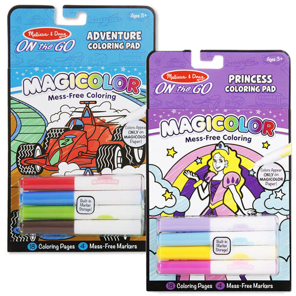 Group photo Magicolour pads in styles adventure and princess