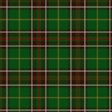 Swatch of Newfoundland tartan, featuring narrow white, yellow and red bands
