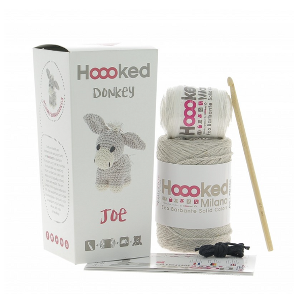 Joe Donkey - Crochet Kit - Hoooked Eco Barbante