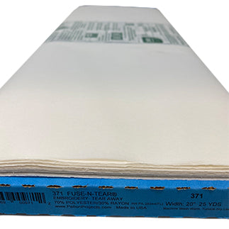 Full roll of white fusible embroidery stabilizer