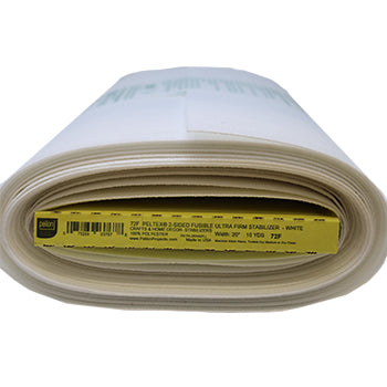 Full roll of white ultra firm (two-sided fusible) stabilizer