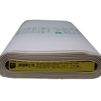 Full roll of white crisp fusible stabilizer