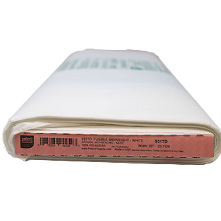 Full roll of white fusible midweight interfacing (non-woven)