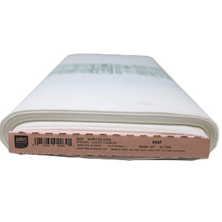 Full roll of white fusible interfacing (for collars and cuffs)